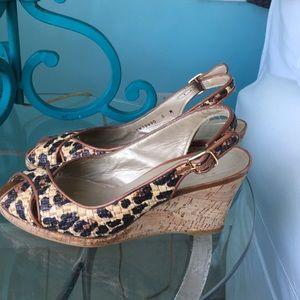 STUART WEITZMAN open toe,wedge heel sandal